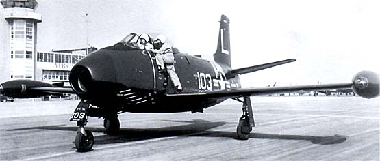 North American FJ-1 Fury on runway