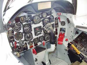 Cockpit of the North American FJ-4B Fury
