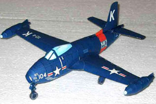 North American FJ-1 Fury paper model