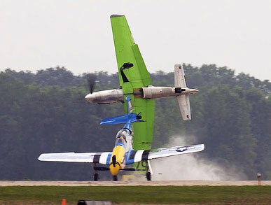 North American P-51 Racer Crash