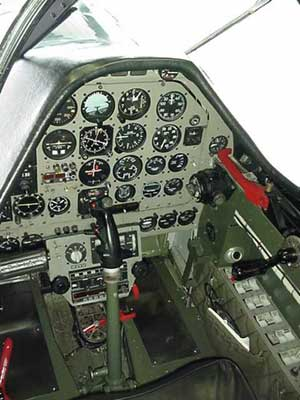 WW2 North American P-51 Mustang Fighter Cockpit Picture