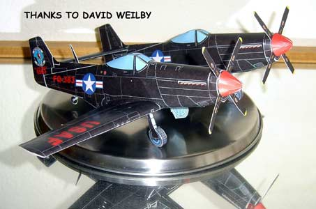 P-82 Twin Mustang paper model