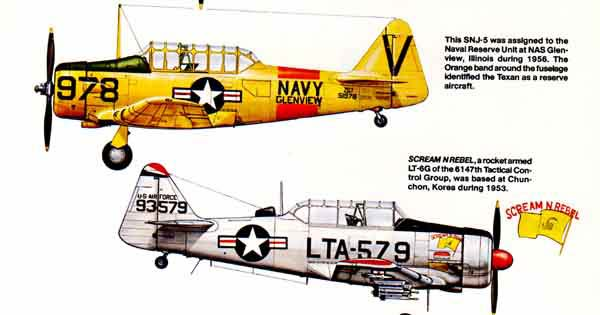Texan SNJ versions