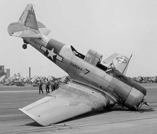 North American Texan Crash