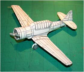 SNJ Texan downloadable cardmodel