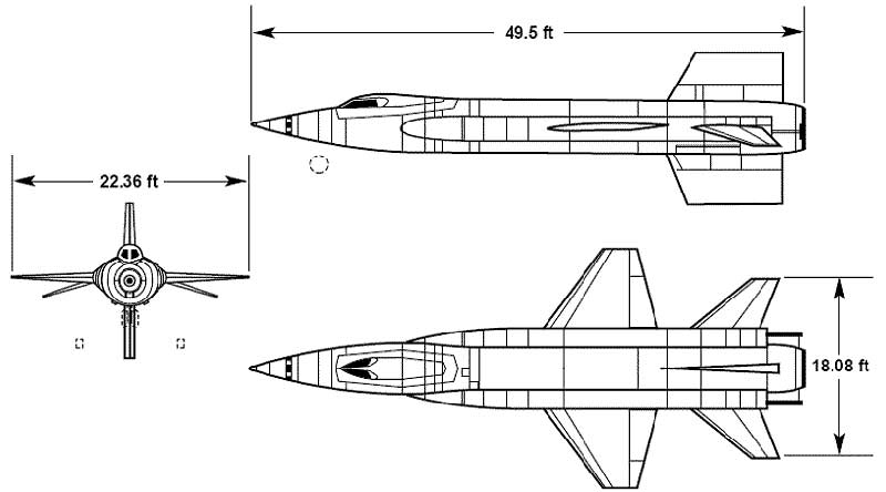 3 View of North American X-15