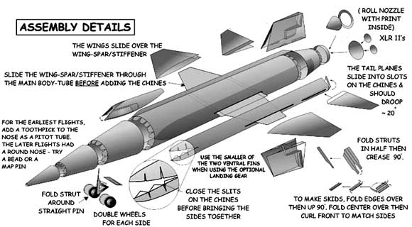 X-15 assembly drawing