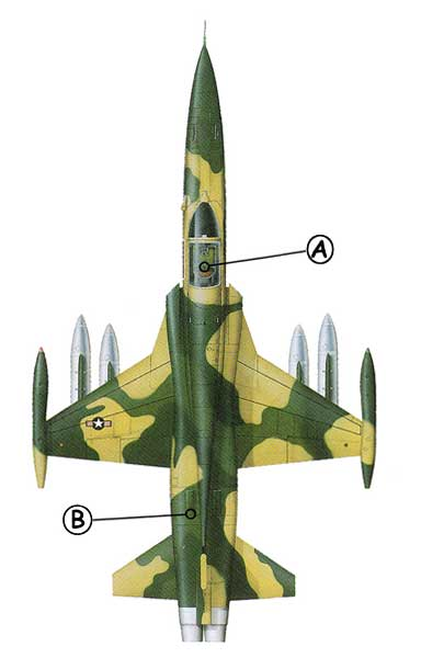 Northrop F-5 Callout Top