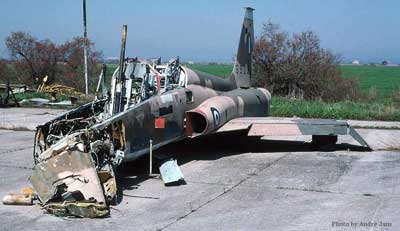 Northrop F-5 Freedom Fighter Crash