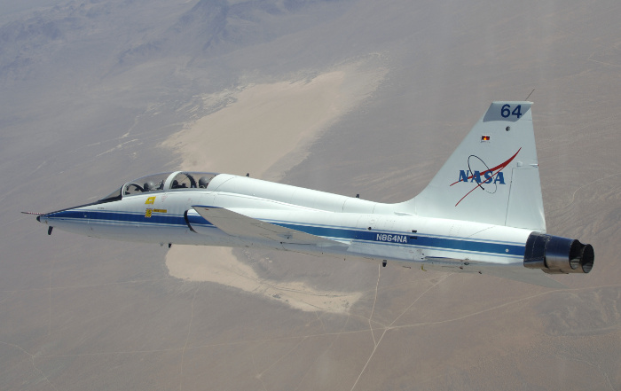 NASA T-38 flying over Southern California