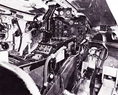 Nothrop XB-35 Flying Wing Cockpit