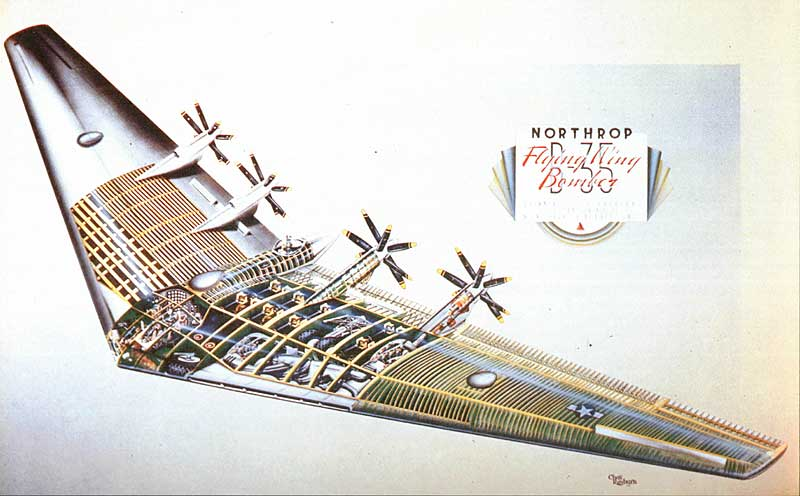 Nothrop XB-35 Flying Wing Cutaway