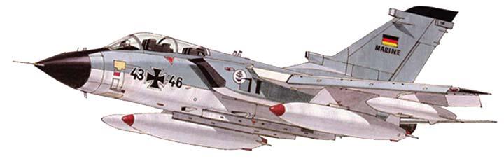 Illustration fot the Swept wing Panavia Tornado paper model