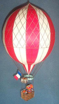 paper model of the Paris Seige Balloon