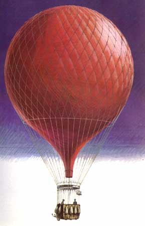 Typical Paris seige balloon
