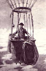Gaston Tissandier in basket