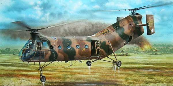 Illustration for the Piasecki Shawnee H-21 paper model