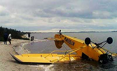 Piper J-3 Cub Crash on beach