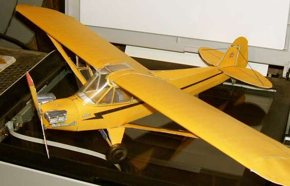 Piper Cub downloadable caaedmodel from Fiddlersgreen