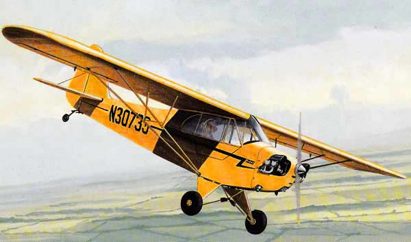 The Piper J3 Cub provate light aircraft