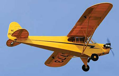 Piper Cub In Flight