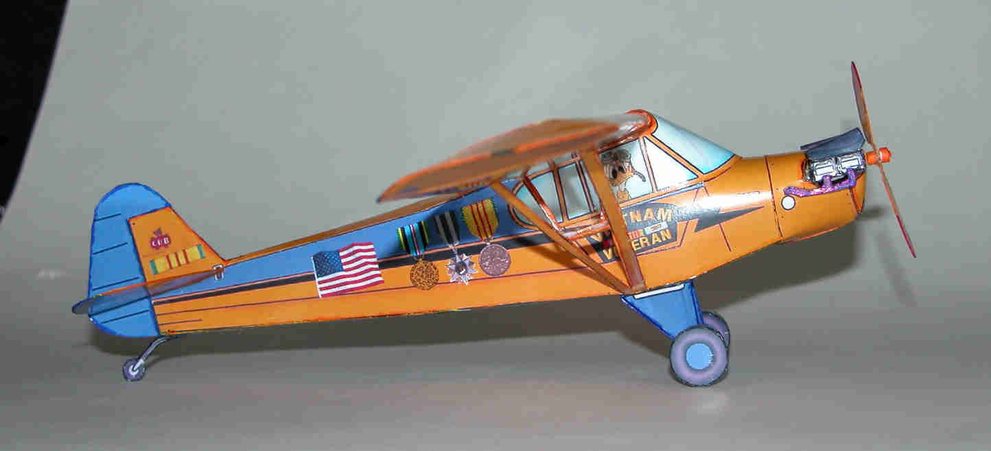 piper j3 tribute model for viet nam