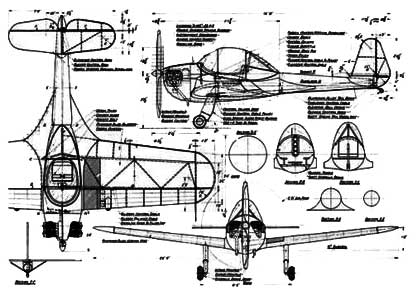 3 View of the Piper PA-8 Skycycle