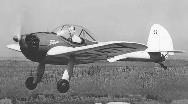 Piper PA-8 Skycycle In Flight