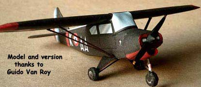 The PA-22 Piper Tri-Pacer paper model airplane