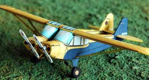 Paper model of the Wagner Twin Cub oddity