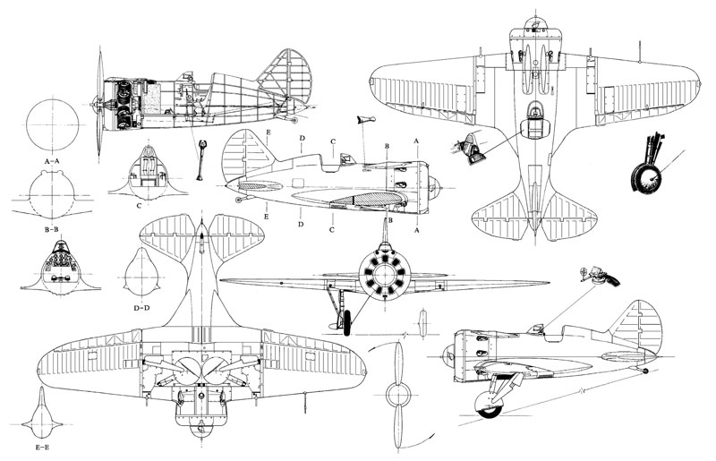 Polikarpov I-16 Sections
