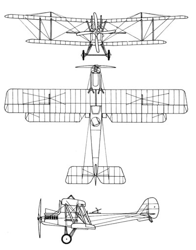 3 View of the Royal Aircraft Factory R.E.8.