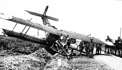 Royal Aircraft Factory R.E.8 Crash