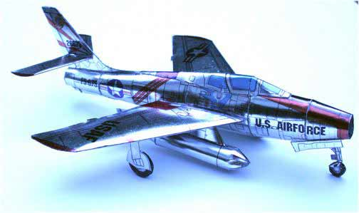 Republic F84 F-84 Cardmodel Fiddlersgreen Fiddlersgreen.net