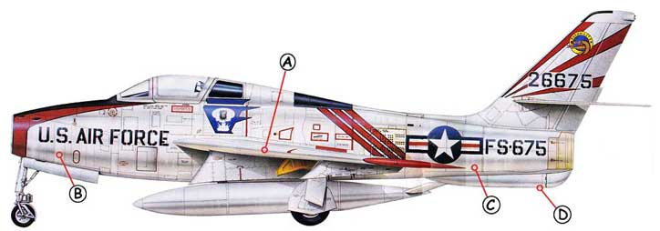 Republic F-84 Thunderstreak Callout