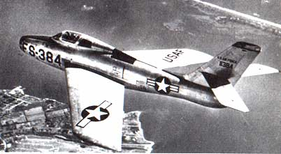 F-84 in flight