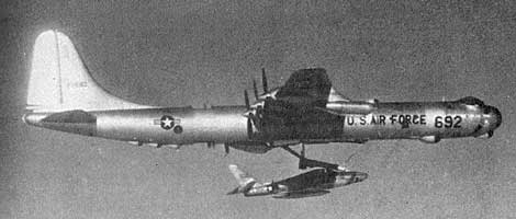 F-84 vrs B-36 caught