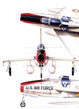 F-84 Thunderstreak nose