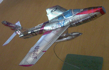 paper model of the Republic F-84 Thunderstreak