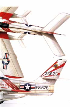 F-84 Thunderstreak tail