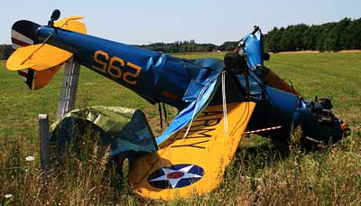 Ryan PT-22 Crash