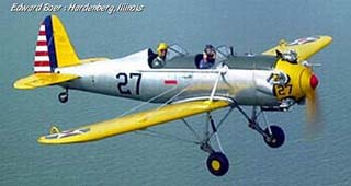 Ryan PT-22 over water