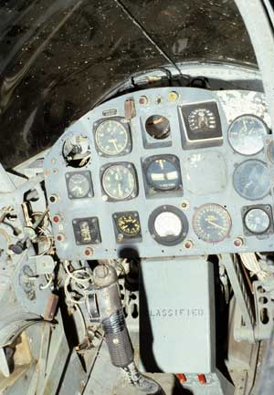 Cockpit of the Ryan X-13 Vertijet
