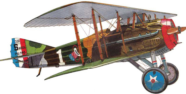 illustration for the SPAD XIII paper model