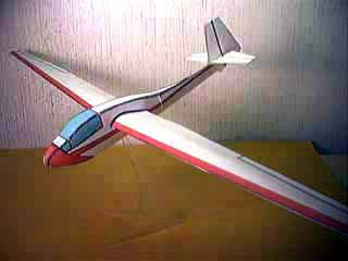 fiddlersgreen sailplane sail plane model flying paper model card