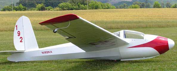 photo foe the Schweizer 1-26 Sailplane paper model