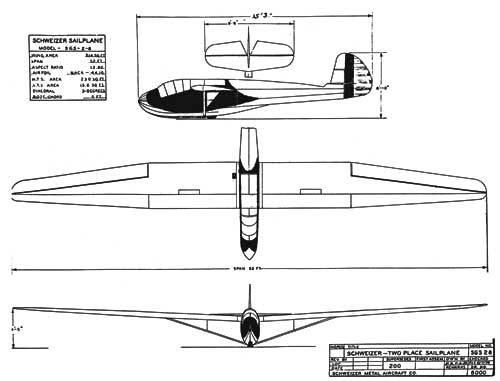 3 View of the Schweizer TG-2