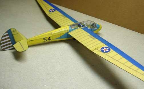 TG2 Glider Downloadable card model