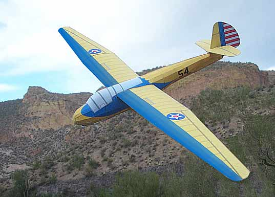 illustration for Schweizer Sailplane paper model