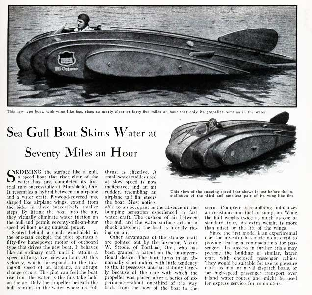 Sea Gull flying boat article